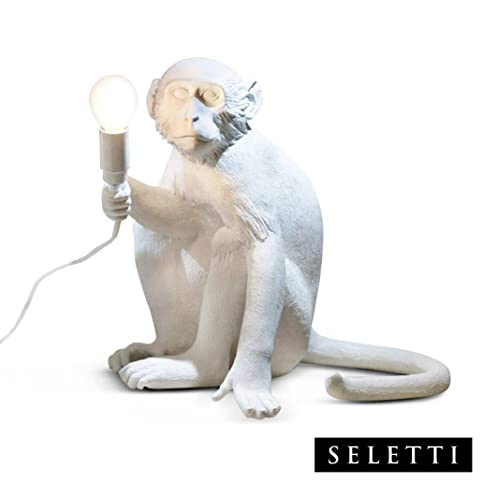 Seletti Monkey Lamp - Sitting White - - Amazon.com