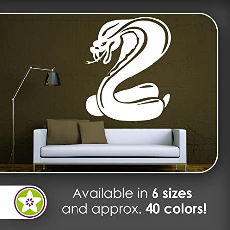 Kiwistar cobra snake aggresive poison bite wall decals in 6 sizes wall sticker walltattoo