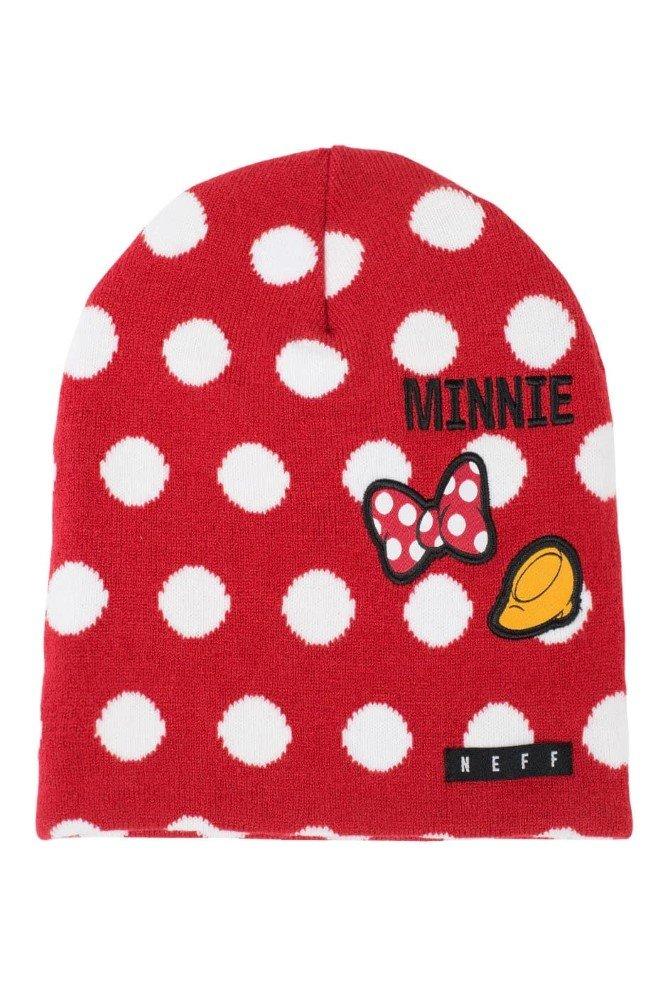 Disney Big Girls' Neff Minnie Polka Dot Daily Beanie, Red/White, One Size
