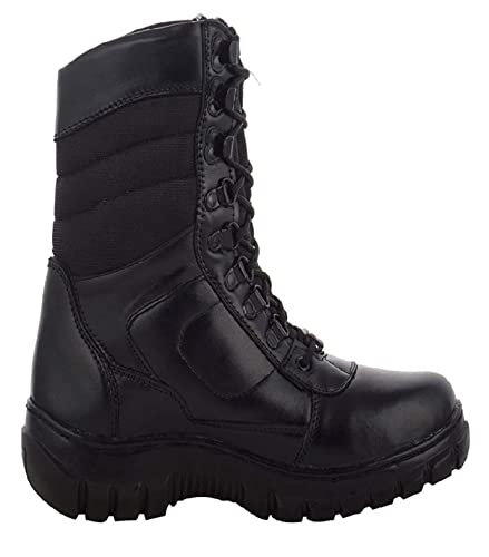 Para commando Mens Black Genuine Leather Army Military Boot Shoes  Buy  Online at Low Prices in India - Amazon.in 2d1c1212c