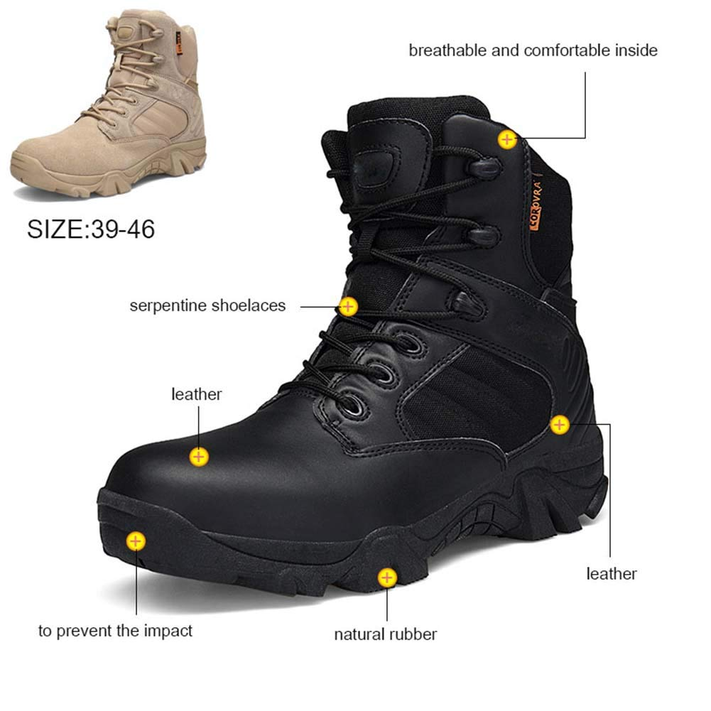 XLY Men es Tactical Stiefel Leichtgewicht, wasserdicht, Rutschfeste Militärstiefel, die mit Wear-resistenten Stiefeln ausgestattet sind