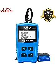 OBD2 Diagnostic OBDII Lecteur de Code de Défaut Véhicule Tvird Diagnostic Scanner et Scanner OBD2 à usage général pour moteur à essence et test de batterie, Analyse Diagnostique Automatique Lecture