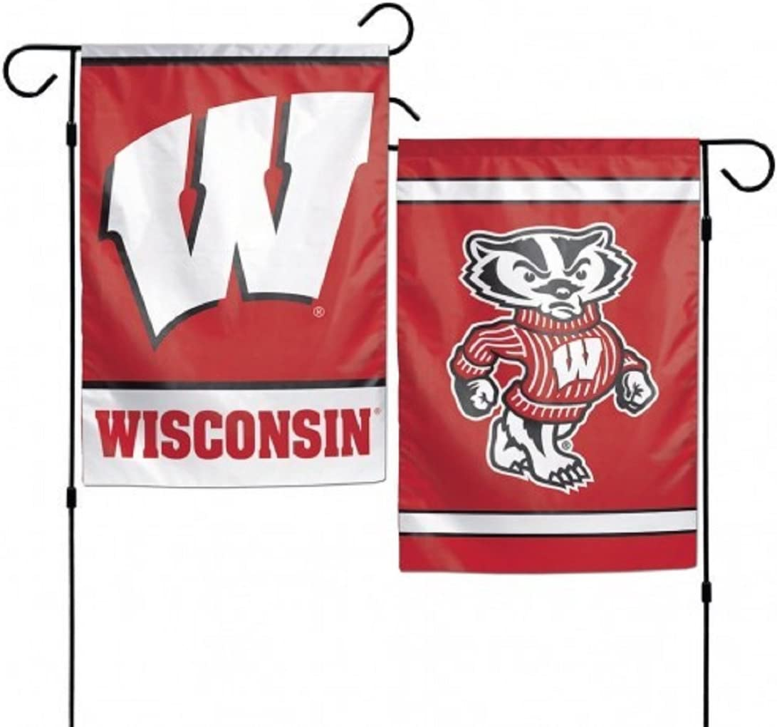 Wisconsin Badgers Garden Flag By Wincraft 11 X 15 by Wincraft