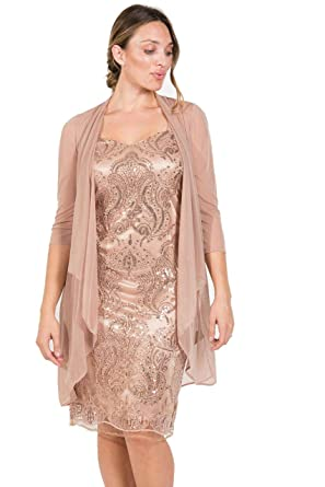 4b94594e0d8 R M Richards Mother of Bride Formal Short Dress at Amazon Women s Clothing  store