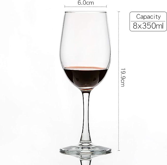 12 Piece Set 300Ml10.6 Fl Oz Pc Everyday Wine Glasses