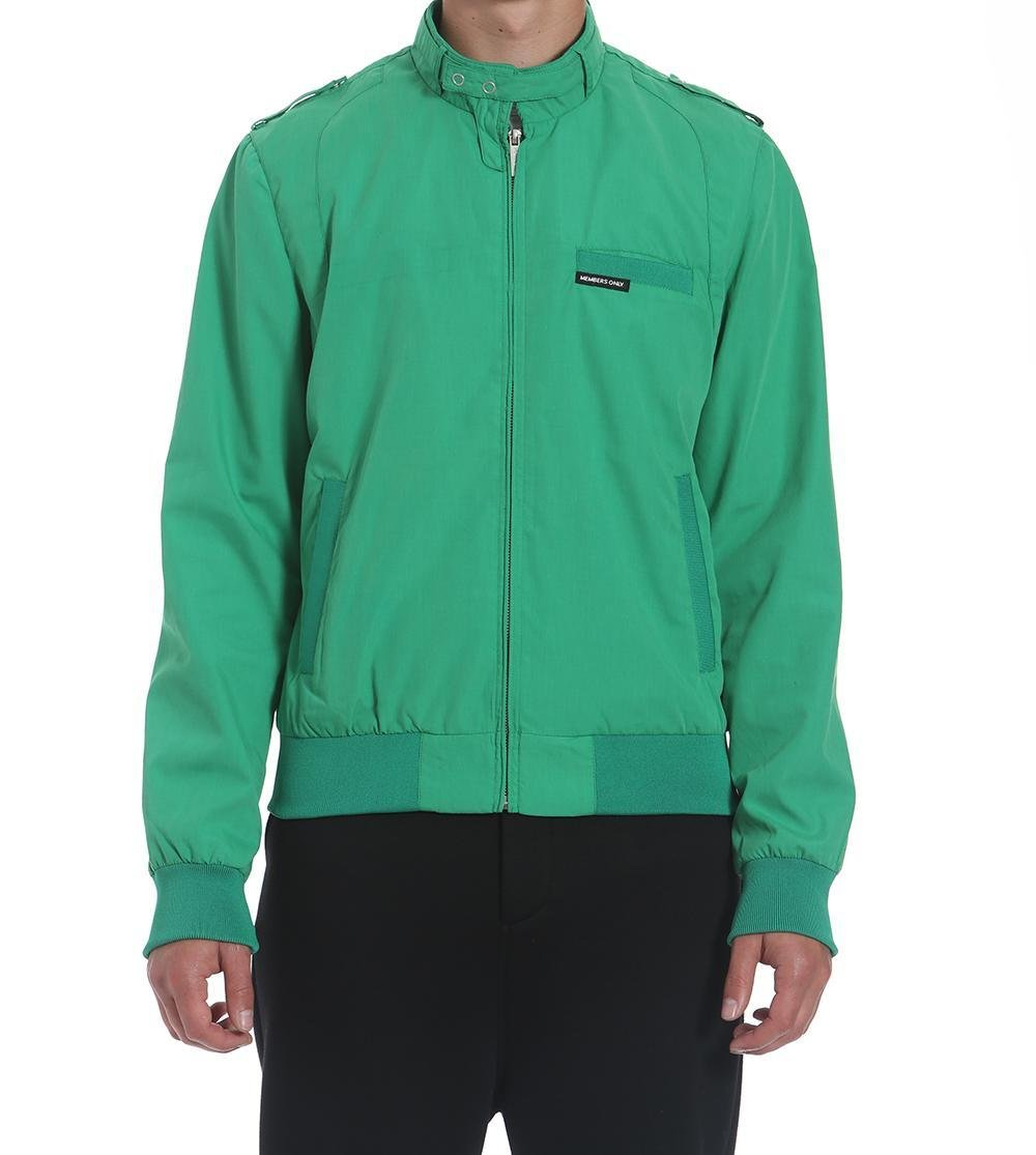 Members Only Men's Original Iconic Racer Jacket, Green, Small by Members Only