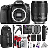Canon EOS 80D DSLR Camera with EF-S 18-135mm f 3.5-5.6 IS USM Lens w Advanced Photo and Travel Bundle