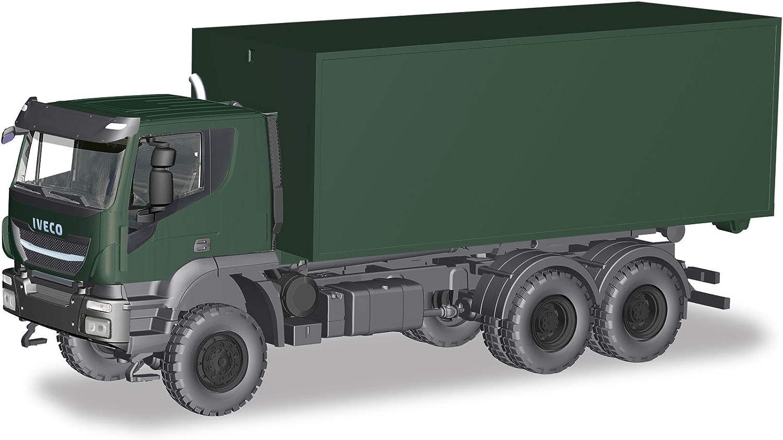 "Herpa 746519 # Iveco Trakker 6x6 3-achs Abrollcontainer-LKW /"" Bundeswehr /"" 1:87"