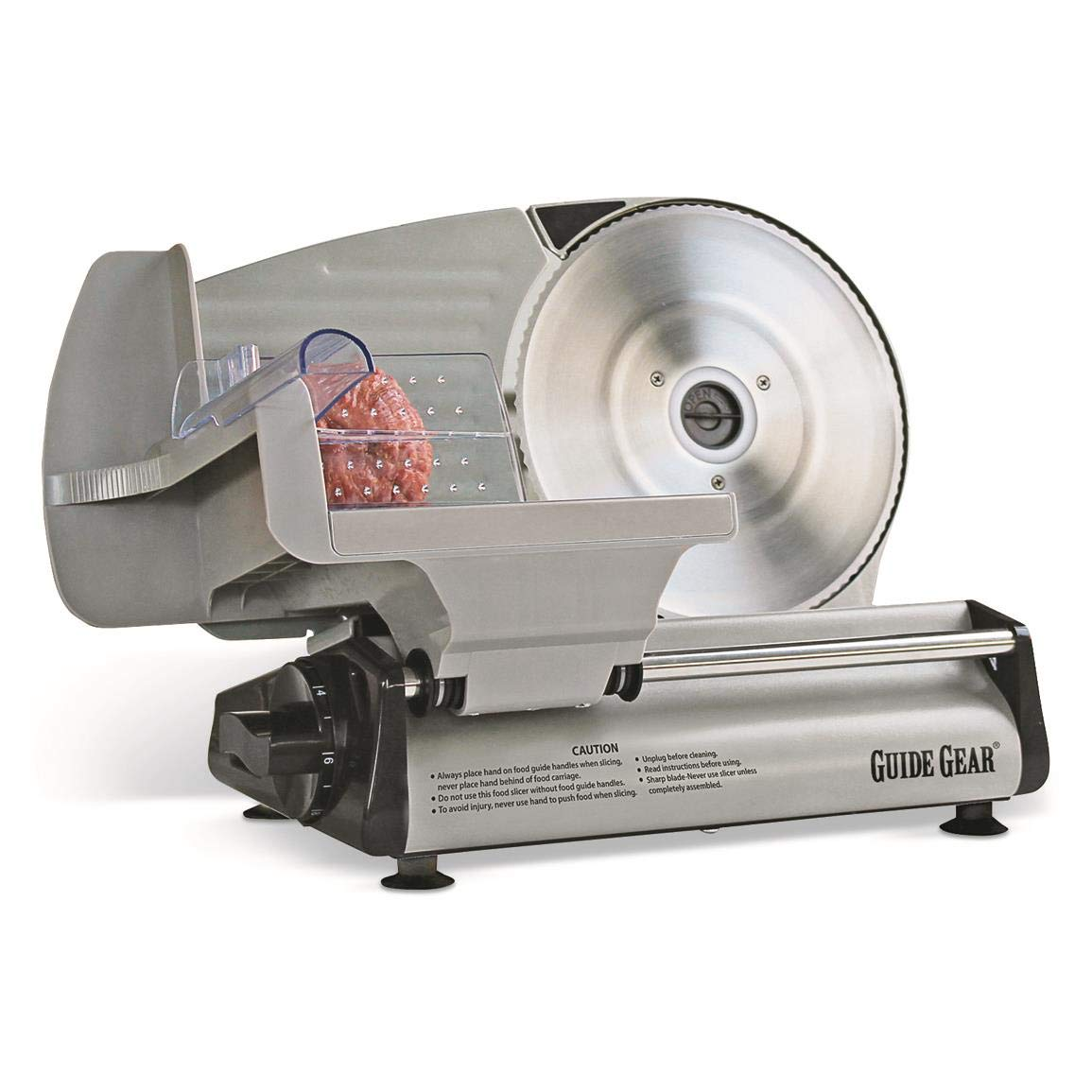 "Guide Gear Electric Stainless Steel Food Slicer, 8.7"" Blade"