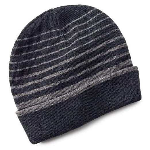 9ab7a4be7 Tek Gear Warmtek Striped Reversible Knit Beanie Hat Men One Size
