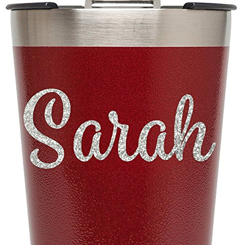 Glitter Name Vinyl Decal for RTIC Ozark Trail and Yeti Tumblers Laptops MacBooks Bridesmaid Gifts etc Style - Personalized Glassware Cheap