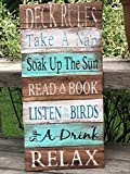 Deck rules sign deck decor deck signs home decor wood signs pallet signs lake house decor cottage decor