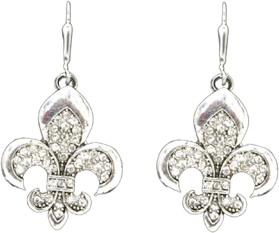Fleur de Lis Filigree Charm Sterling Silver 925 for Bracelet New Orleans Saints