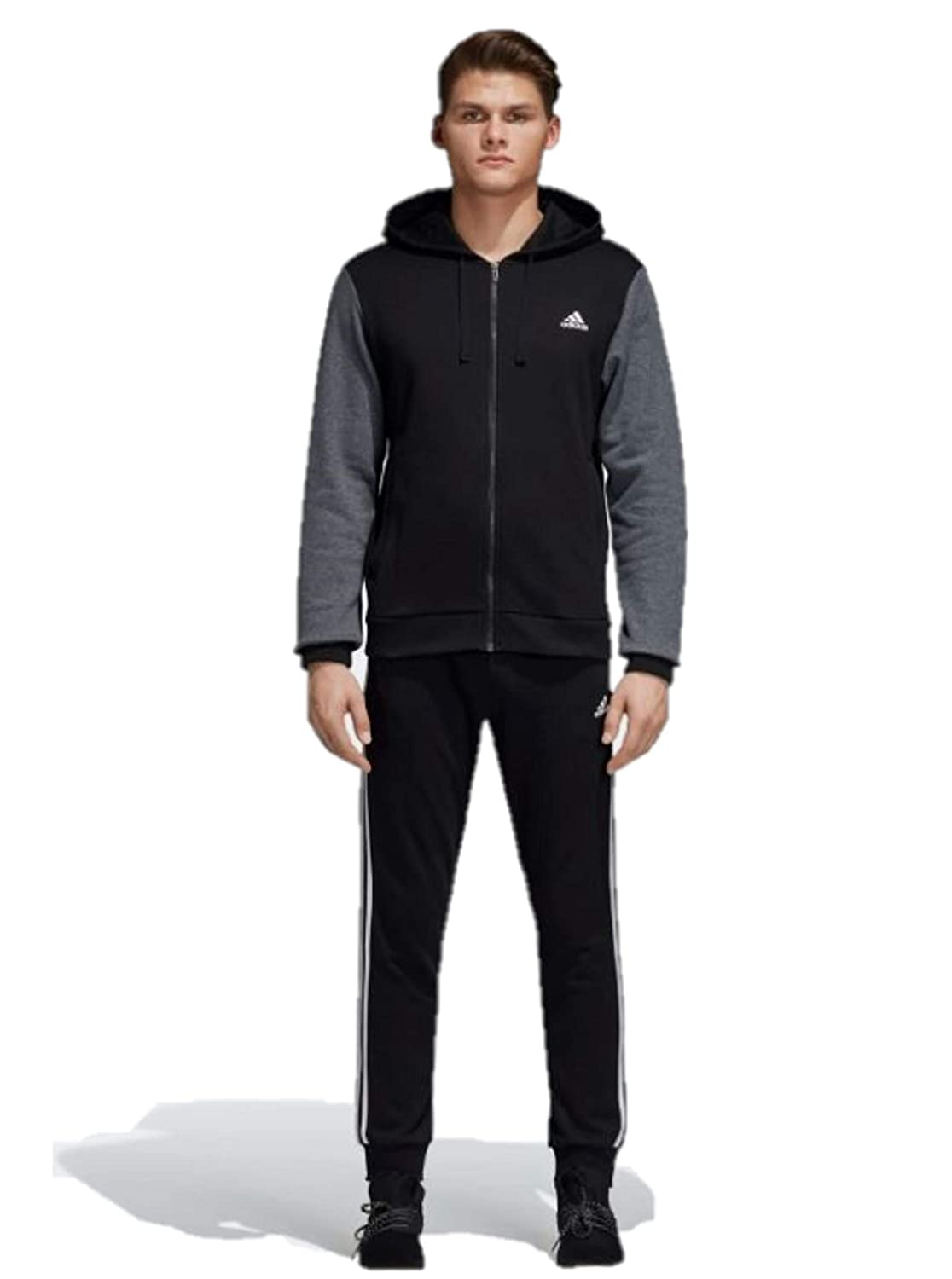 Image of Active Tracksuits Adidas Men's Energize Track Suit 3 Stripes Hoodie Tracksuit Blue/Black
