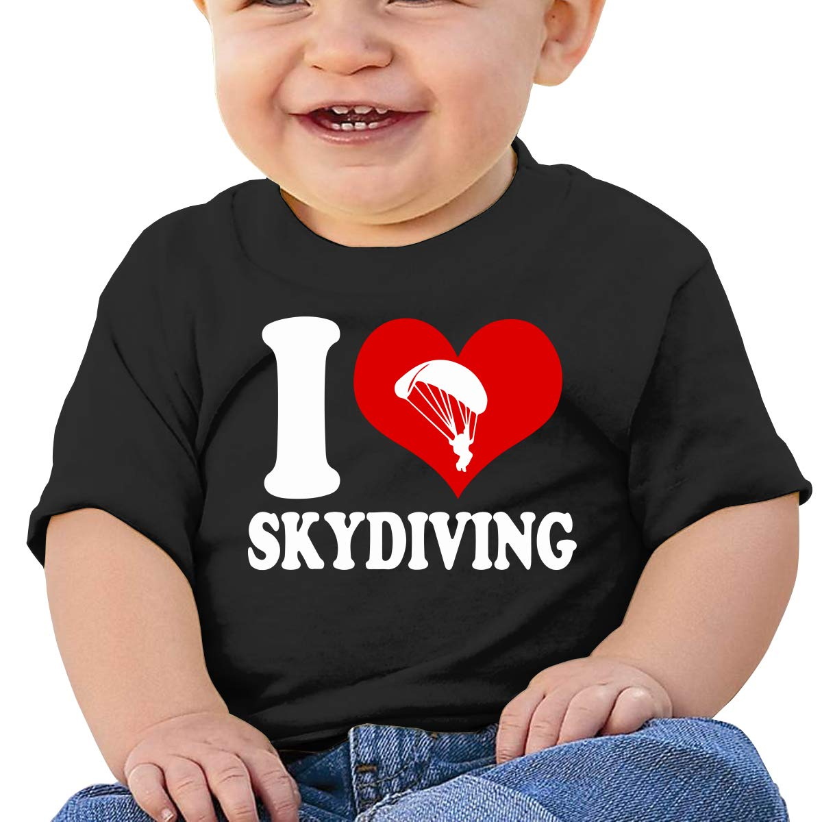 Love Skydiving Skydive Baby Boy Newborn Short Sleeve T Shirts 6-24 Month Soft Tops Skydiving