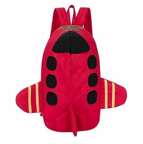 mochilas escolares juveniles, Sannysis mochilas viaje, patrón de plano 3d impresiones (rojo)