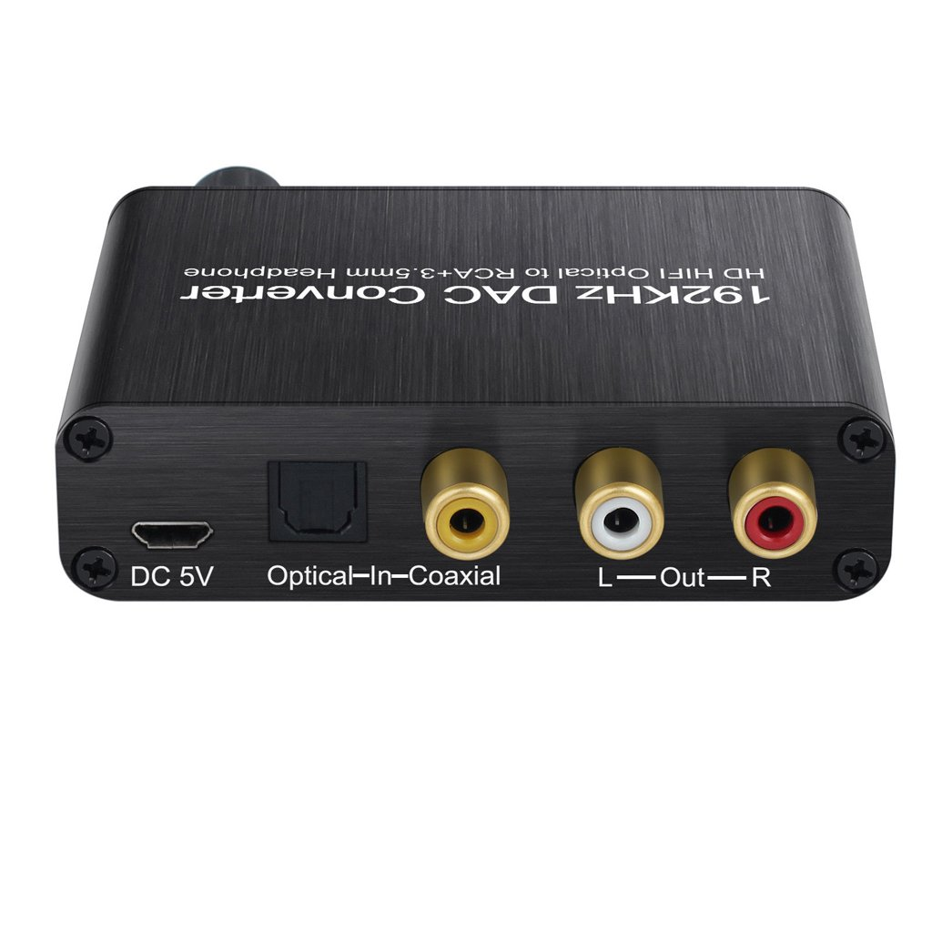 MagiDeal 192kHz DAC Converter with Volume Adjustment Optical Coaxial Toslink to Analog