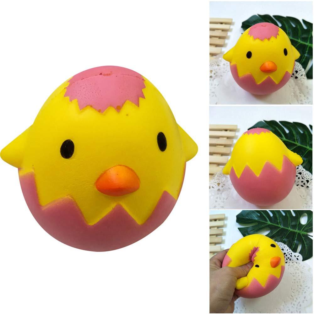 Choosebuy❤️ 13x10CM Squishies Jumbo Broken Egg Shell Hop Props Slow Rising Stress Relief Kawaii Toys Xmas Christmas Collection Educational Gift (Yellow)