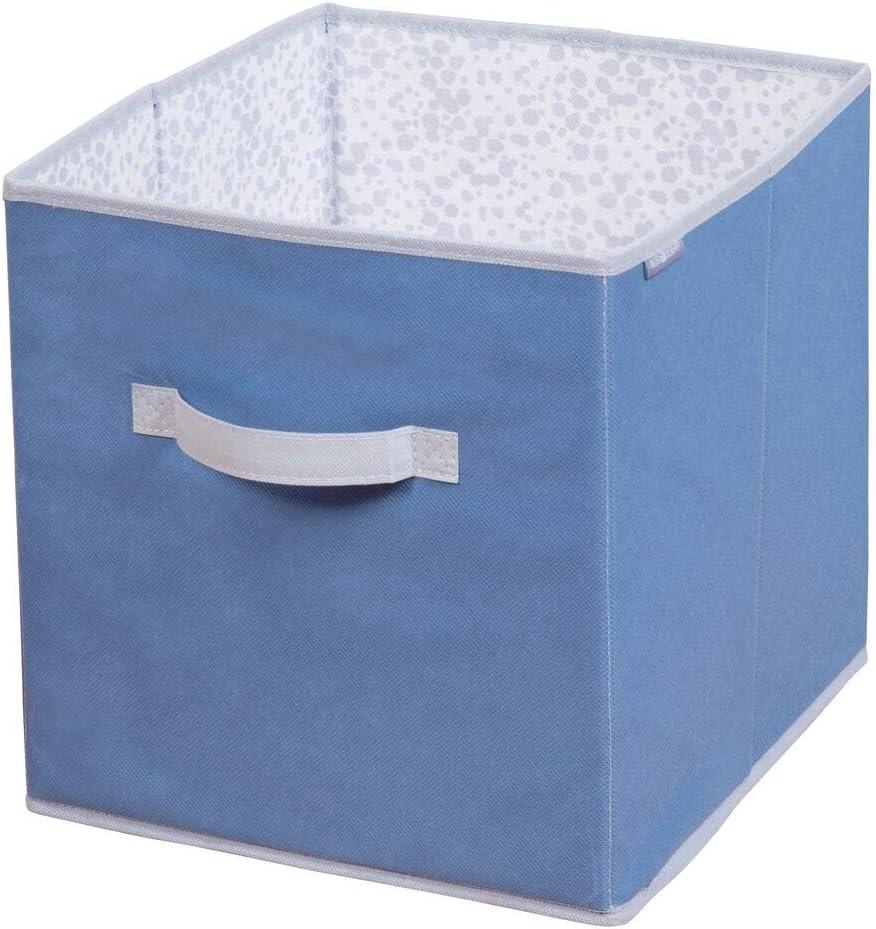 mDesign Caja de Tela para ordenar armarios – Organizadores de Juguetes o del Cambiador – Caja organizadora para pañales, Ropa, Mantas y Otros Accesorios de bebé – Azul/Gris: Amazon.es: Hogar