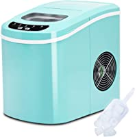 Costway Counter Top Ice Maker Machine Portable Compact Electric High Efficiency Express Ice Making Machine Mini Cube 26lb of Ice per 24 hours with Ice Scoop (Black)