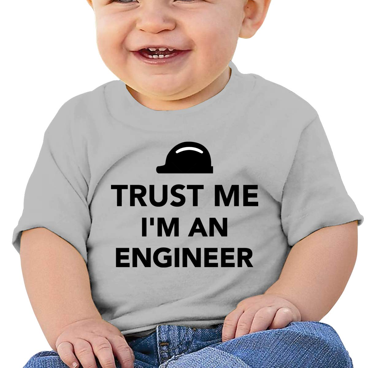 Trust Me Im an Engineer Baby T-Shirt Toddler Cotton T Shirts Fashion Graphic Tees for 6M-2T Baby
