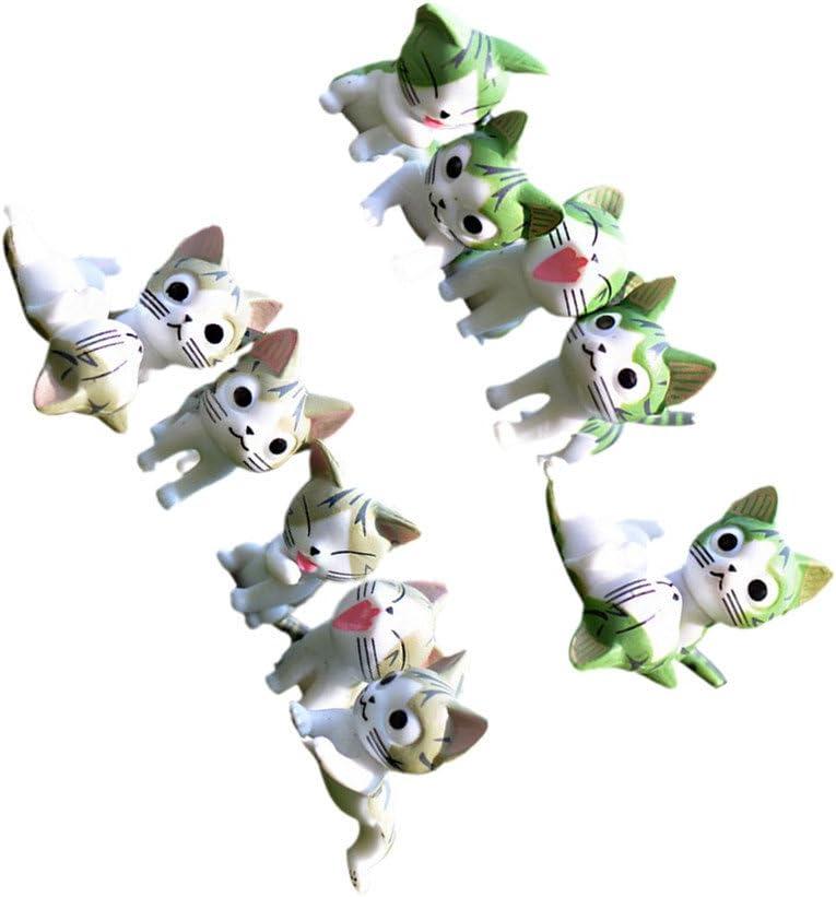 Gazechimp 12x Gatos Mini de Jardín Casa Bonsais Hadas Figuras Decorativas de Patio: Amazon.es: Jardín
