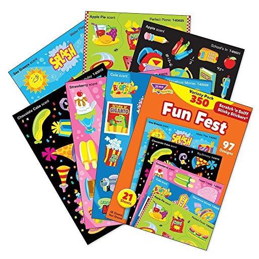 TREND enterprises, Inc. Fun Fest Stinky Stickers Variety Pack, 350 ct