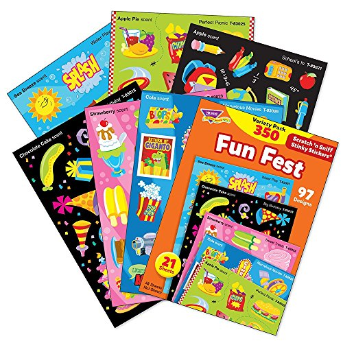 TREND enterprises, Inc. Fun Fest Stinky Stickers Variety Pack, 350 ct -