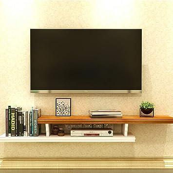 Los estantes flotantes Flotante Soporte de TV gabinete, madera Estantería multimedia, montado en la pared Media Console, Wi-Fi Router Foto juguete Estante de almacenamiento Consola for TV for TV Estan: Amazon.es: Electrónica