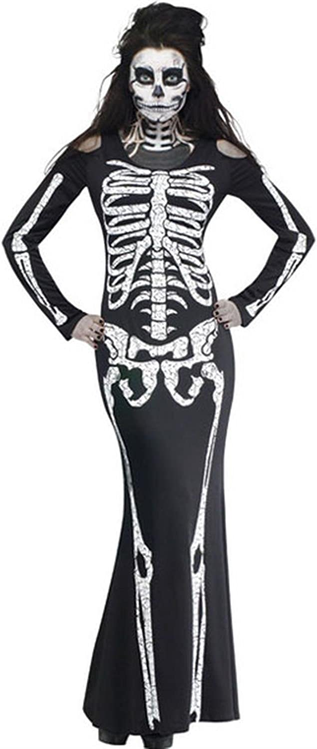 Long Skeleton Gloves Day Of Dead Halloween Costume Accessory Adult Women