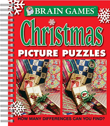 Brain Games - Christmas Picture Puzzles: How Many Differences Can You Find? (Brain Games - Picture Puzzles) -