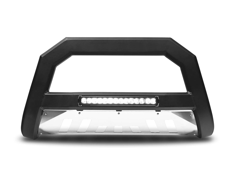 Matte Black W//Aluminum Skid Plate Armordillo USA 7176690 AR Series Bull Bar W//LED Fits 2011-2016 Ford Super Duty F-250//F-350//F-450