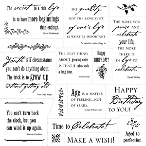 Fiskars Cloud 9 Clear Stamps-Simple Thoughts Happy Birthday