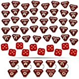 LITKO Combat Token Set Compatible with WH:KT, Translucent Red & Red (50)