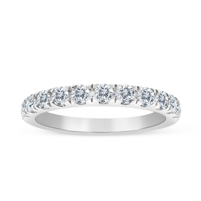 1/2ctw Diamond Wedding Band in 10K White Gold