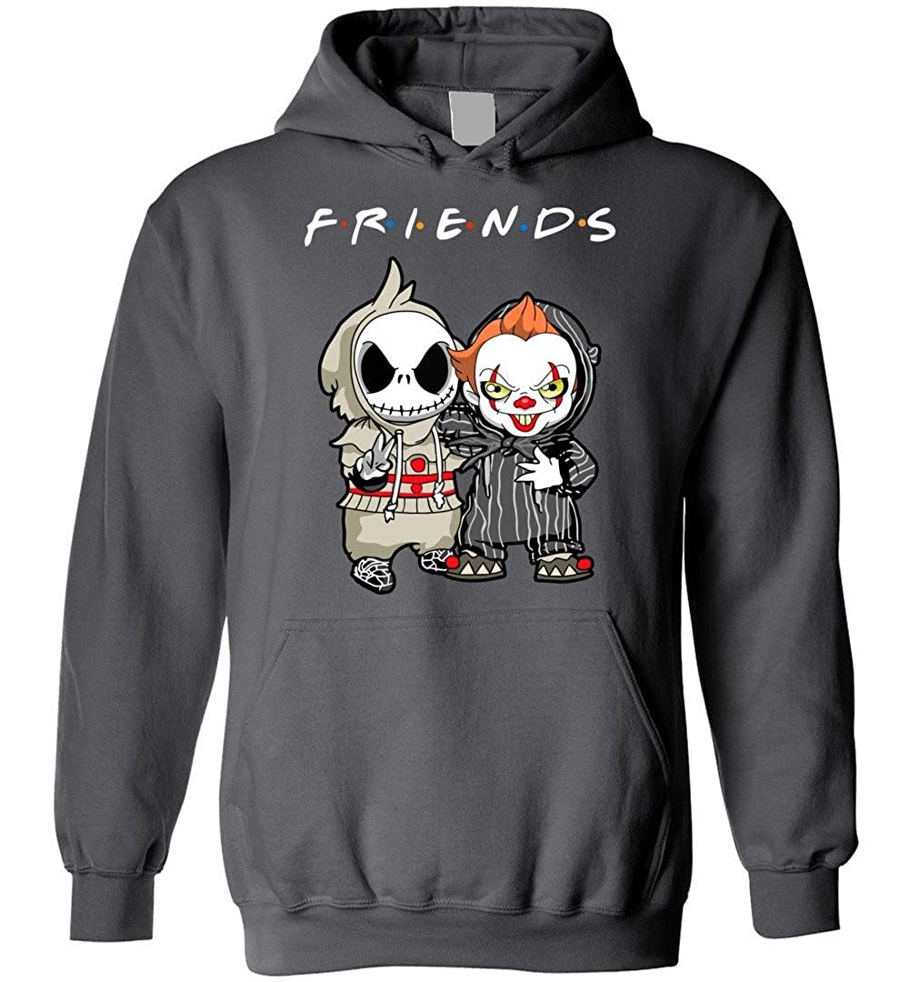 Friend Jack Skellington And It Funny Adults Charcoal Shirts
