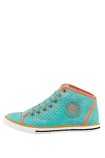 CHICK REBELLE - Zapatillas de sintético para mujer, color verde, talla 36: Amazon.es: Zapatos y complementos