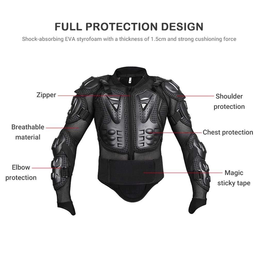 QYLT Veste Armure Moto Unisexe Blouson Motard Gilet Protection Body Armure Motocross Sport Veste de Protection pour V/élo Scooter Skate Snowboard Ski Approuv/é CE
