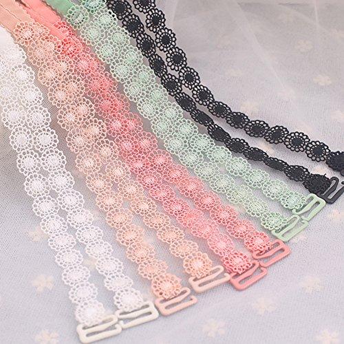 Da.Wa Sous-vêtements féminins fournitures dentelle noire élastique soutien-gorge antidérapant bretelles lingerie sangle