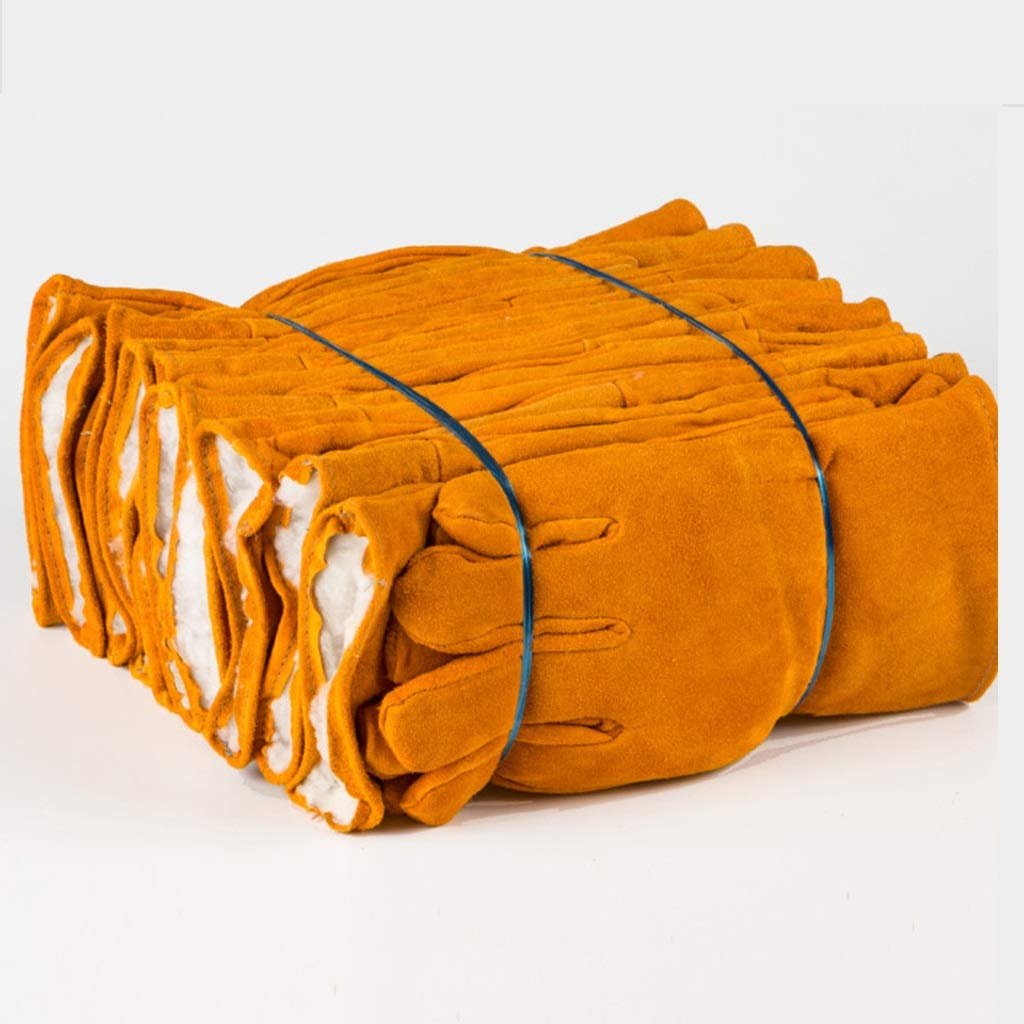 qualità garantita QYSZYG QYSZYG QYSZYG Guanti termosaldati in Cotone, Pelle Corta da Saldatore Lunga, Resistenza all'Usura antiscottatura, Alta Temperatura, Inverno, 10 Paia Guanti (Dimensioni   33 Centimetri)  per poco costoso