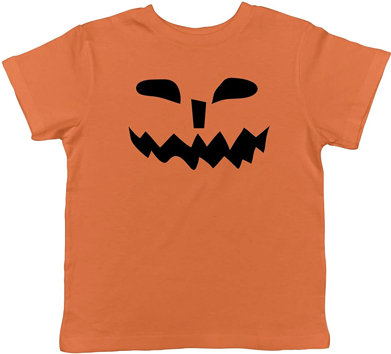 Toddler Spikey Teeth Pumpkin Face Funny Fall Halloween Spooky T Shirt Crazy Dog Tshirts 016SpikeyTeethPumpkTOD