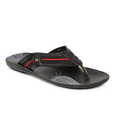 0537d6a8bd1a PARAGON Vertex Men s Black Flip-Flops  Buy Online at Low Prices in India -  Amazon.in
