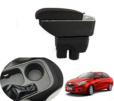 SZSS-CAR Leather Car Interior Parts Center Console Armrest Box for Chevrolet Spark 2011 2012 2013 2014 2015 2016 2017 Auto Armrests Storage Black Color