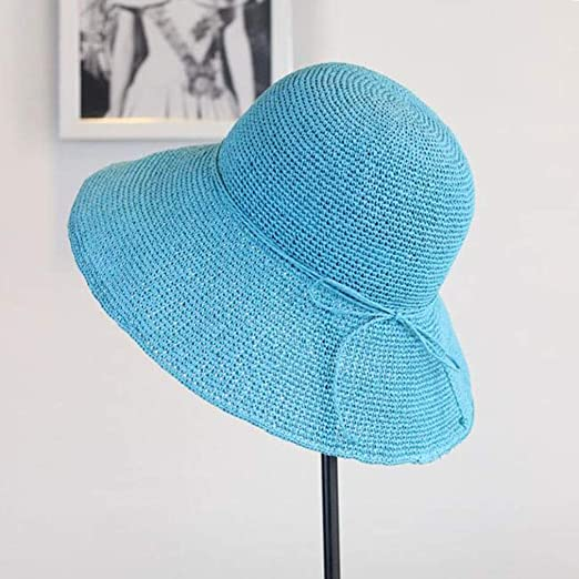 Honey Lady Straw Hat Fino Flores En Forma De Gancho Gorro De Playa ...