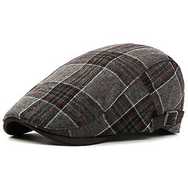 64ed7a998ed Men s Newsboy Gatsby Hat Vintage Beret Flat Ivy Cabbie Driving Hunting Cap  for Boyfriend Gift