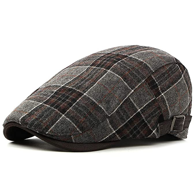 46f7ad75766 Men s Newsboy Gatsby Hat Vintage Beret Flat Ivy Cabbie Driving Hunting Cap  for Boyfriend Gift