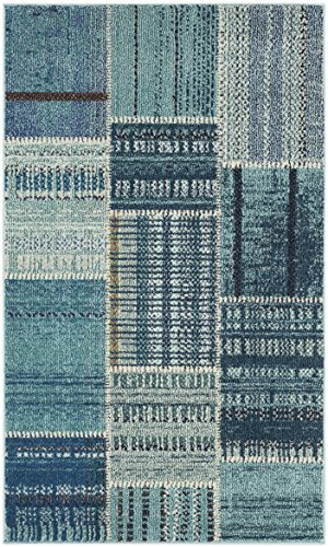 Safavieh Monaco Collection MNC215F Modern Geometric Patchwork Multicolored Distressed Area Rug (3′ x 5′) Review