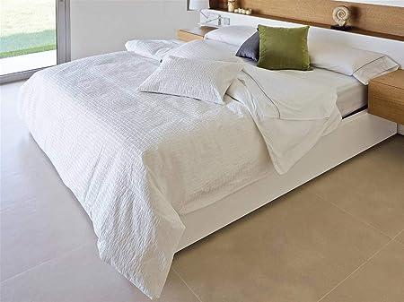 Algodon Blanco - Funda nórdica Gotas Cama 135 Cm - Color Blanco: Amazon.es: Hogar