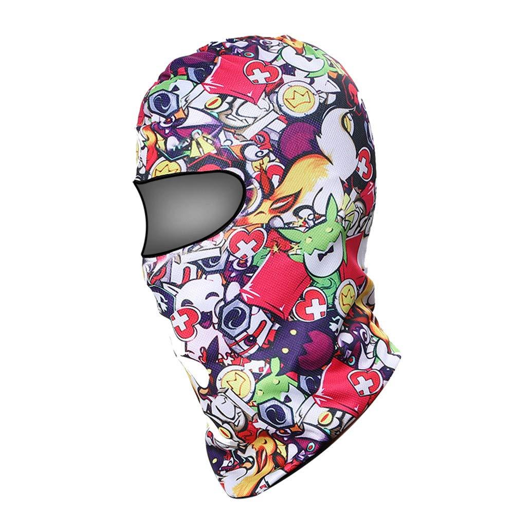 StarDY Motorcycle Mask Racing CS Tactical Balaclava Lycra Ski Face Full Mask Bike Football Helmet Wind-Proof Riding Game Headgear (Anime)