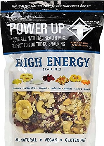 Gourmet Nut Power up 100% All Natural Health Mix High Energy Trail Mix – Large Resealable 26oz Bag